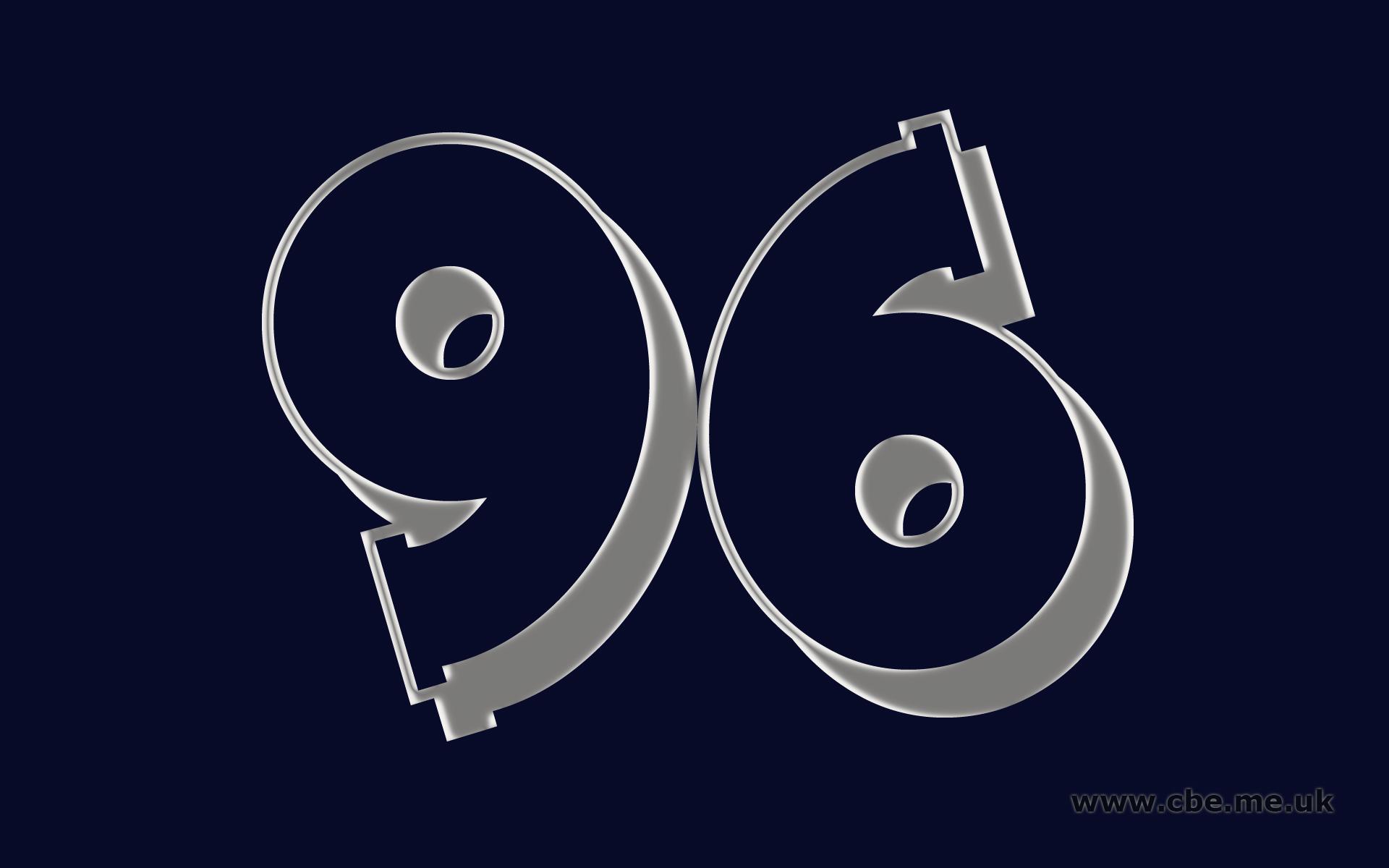 Картинки цифра 96, открытка изображением